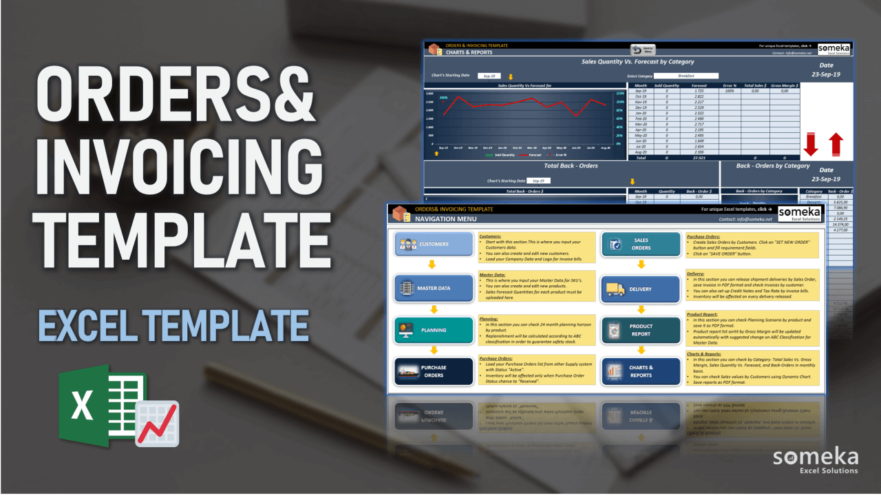 Order Planning & Invoicing Template - Someka Excel Template Video