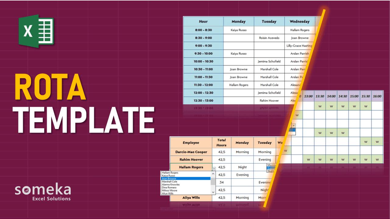 ROTA Template - Someka Excel Template Video