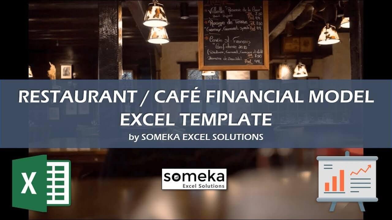 Restaurant Financial Plan - Someka Excel Template Video