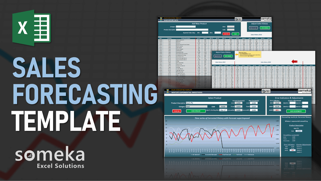 Sales Forecasting Template - Someka Excel Template Video