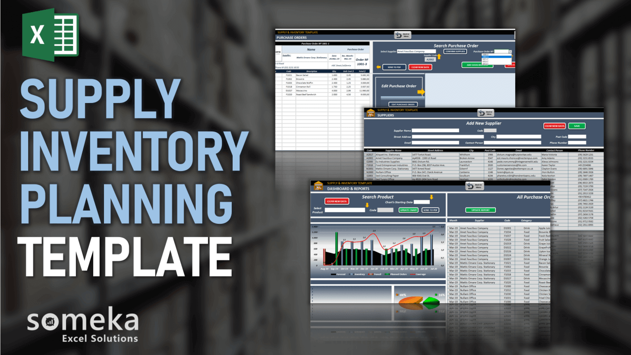 Supply & Inventory Planning Template - Someka Excel Template Video