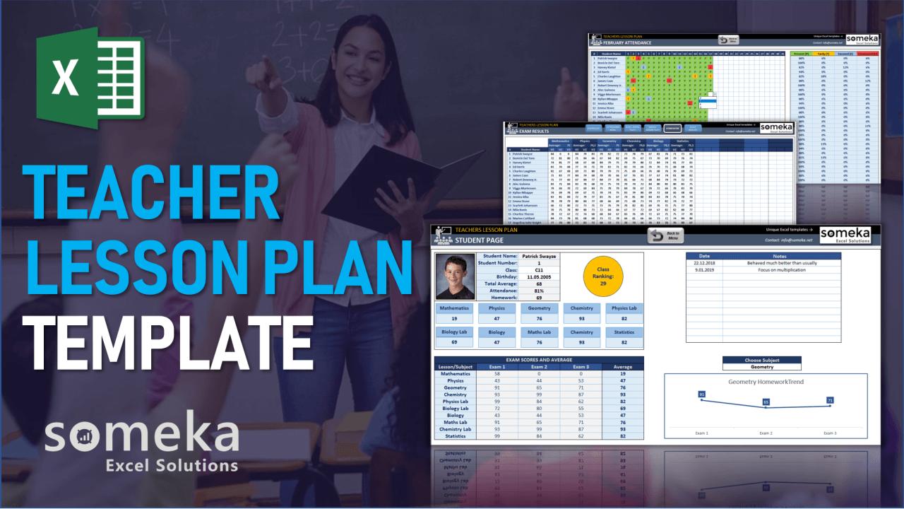 Teacher Lesson Plan Template - Someka Excel Template Video