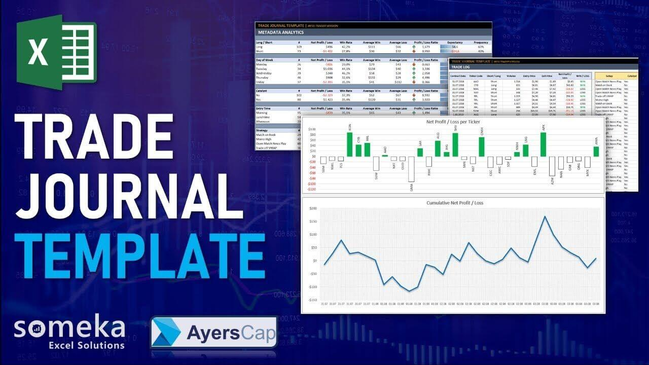 Trading Journal Template - Someka Excel Template Video