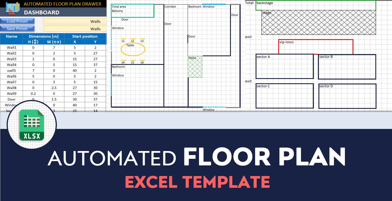 Floor Plan Template Free Floorplan Creator In Excel