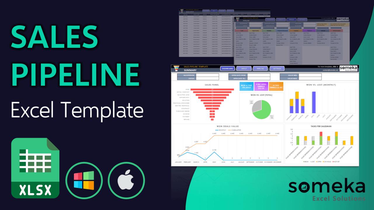 Sales Pipeline Template - Someka Excel Template Video