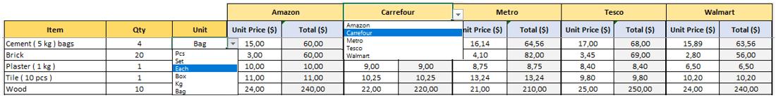 Cost-Comparison-Template-Someka-S02