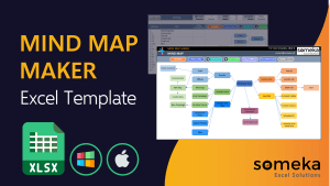 Mind Map Maker Template - Someka Excel Template Video