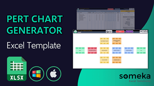 Pert Chart Generator Template - Someka Excel Template Video