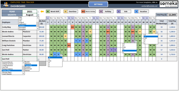 Employee-Time-Tracker-and-Payroll-Template-Someka-SS2