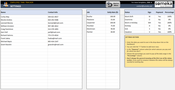 Employee-Time-Tracker-and-Payroll-Template-Someka-SS4