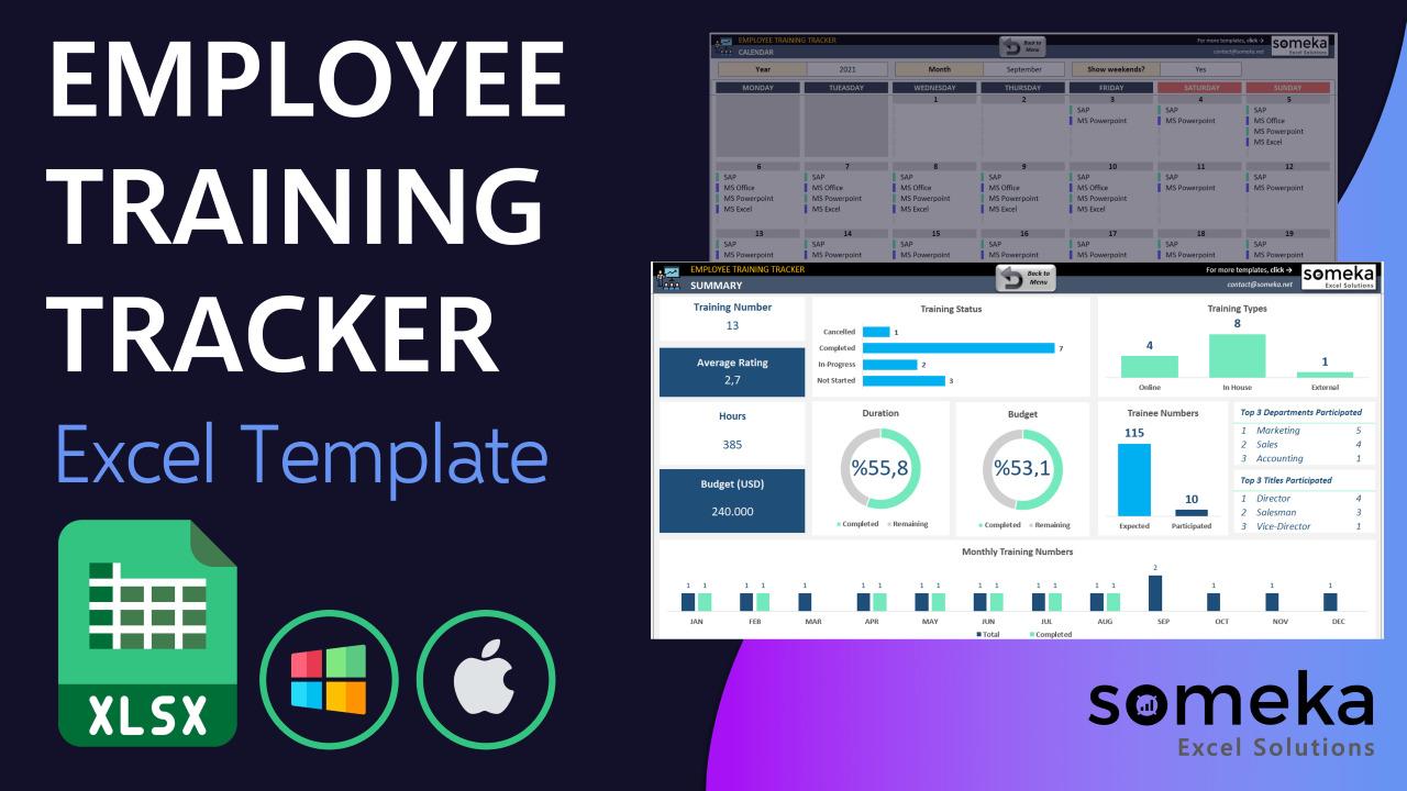 Employee Training Tracker - Someka Excel Template Video