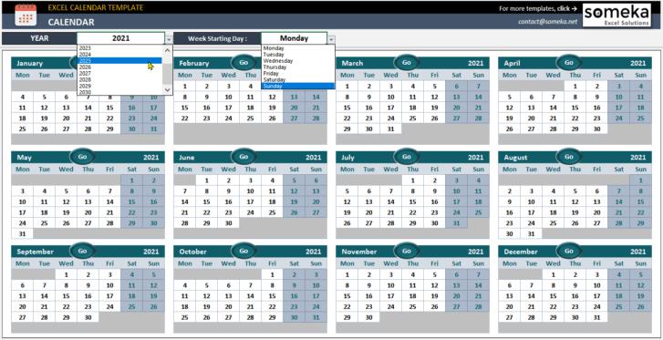 Excel-Calendar-Template-Someka-SS3
