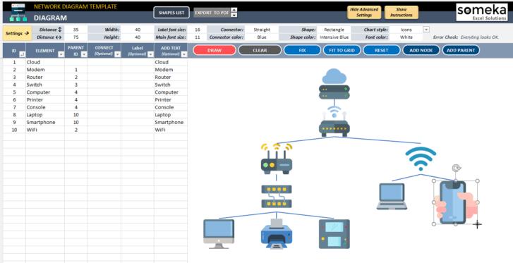 Network-Diagram-Excel-Template-Someka-SS10