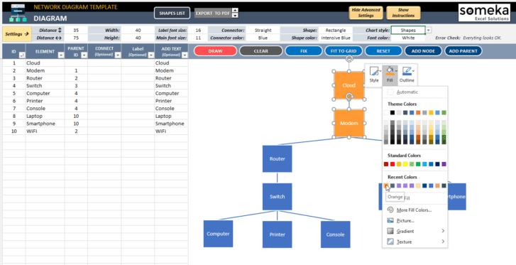 Network-Diagram-Excel-Template-Someka-SS11