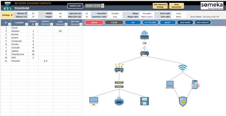 Network-Diagram-Excel-Template-Someka-SS2