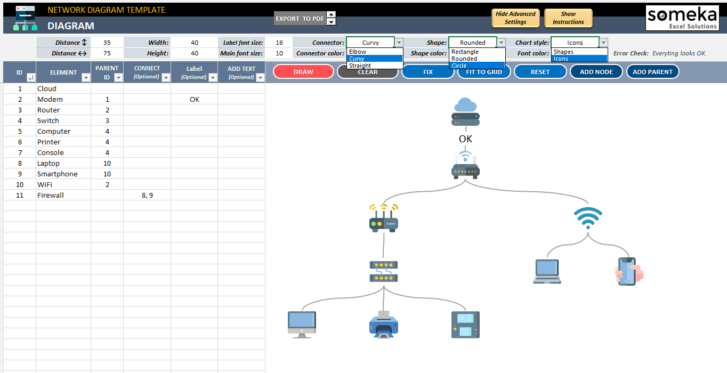 Network-Diagram-Excel-Template-Someka-SS6