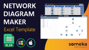 Network Diagram Template - Someka Excel Template Video