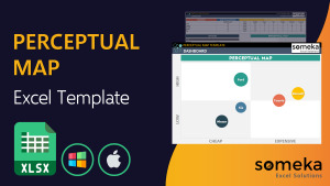 Perceptual Map Template - Someka Excel Template Video
